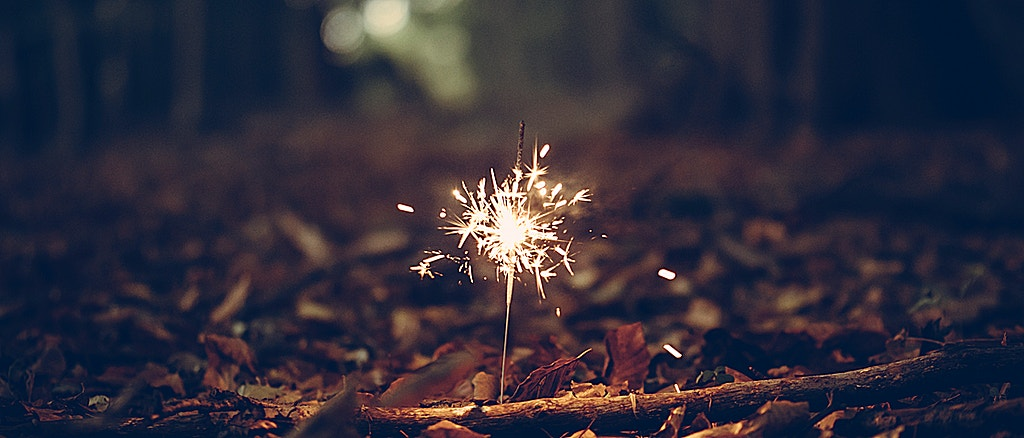 Sparkler in the trees