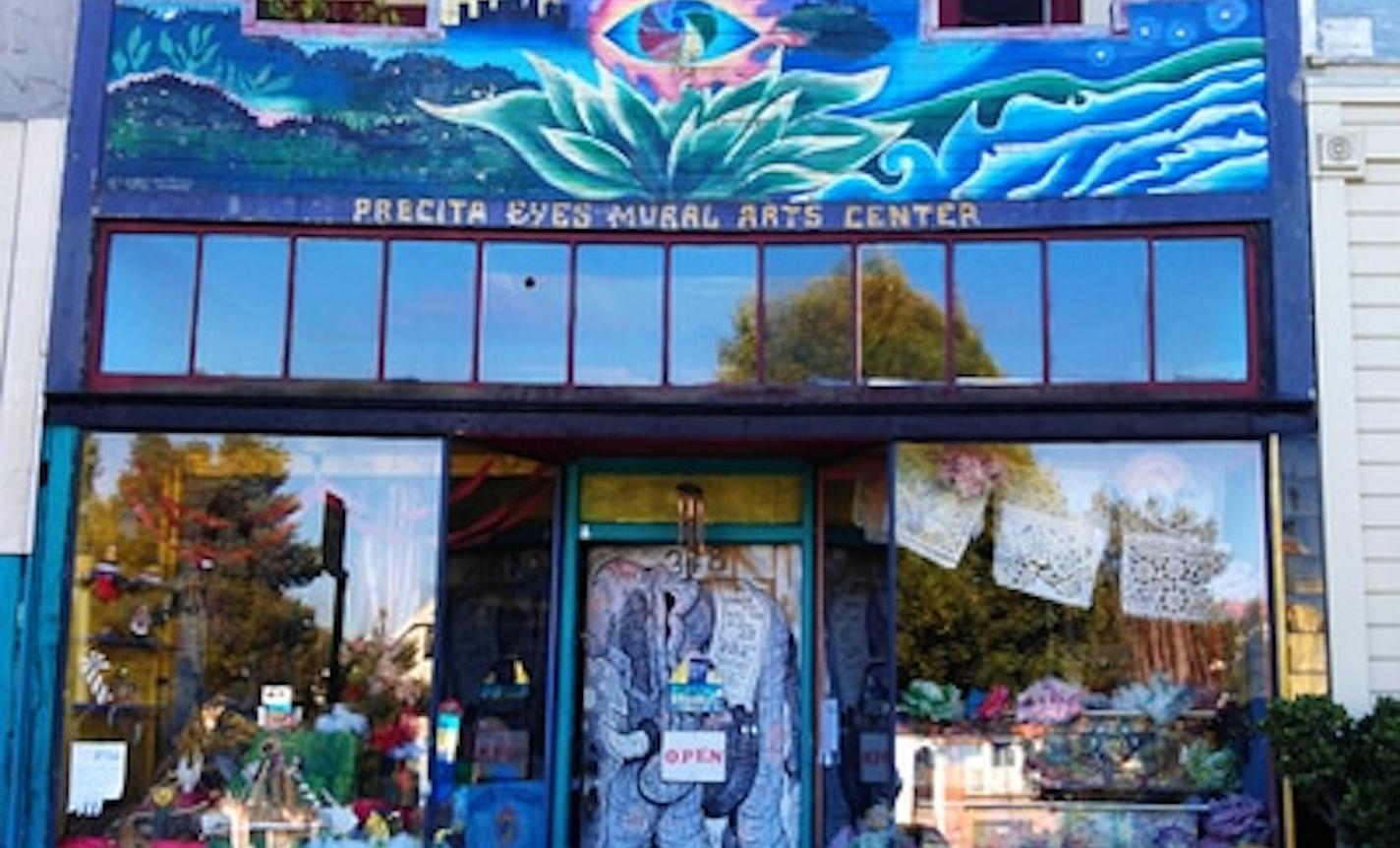 Precita Eyes Chalk Pastel Instant Mural Workshop