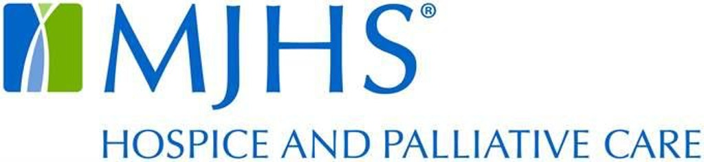 MJHS Hospice and Palliative Care logo in blue text